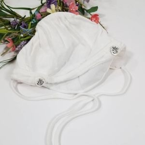 ⚓VTG White Sailor Baby Hat, Boys Brimmed Bonnet
